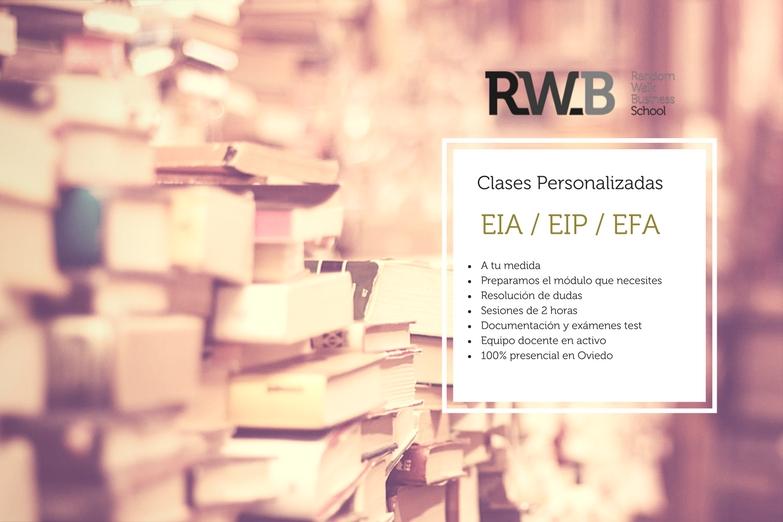 Clases Particulares Certificación EFPA. Empleado de banca cursando formación MIFID II ¿Estás preparando el EIA, EIP o EFA online? ¿Tienes dudas? ¿El temario te resulta complicado? RWB is here!